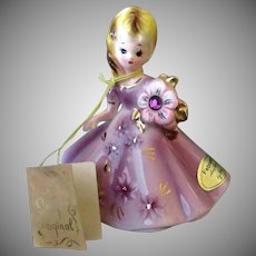 Vintage Josef Original Birthday Girl – February Amethyst with Hang Tag