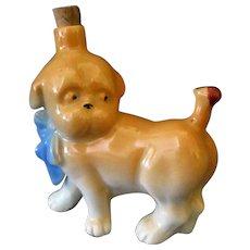 Vintage Figural Perfume Bottle - Little Dog with Ladybug