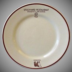 Vintage Advertising Restaurant China – Tovrea Stockyard Restaurant - Phoenix Arizona