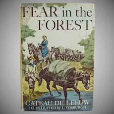 Vintage Book by Cateau De Leeuw - Fear in the Forest