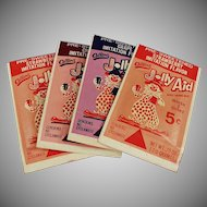 Vintage Jolly Aid Soft Drink Packets - Clown Graphics - Four Different Colors