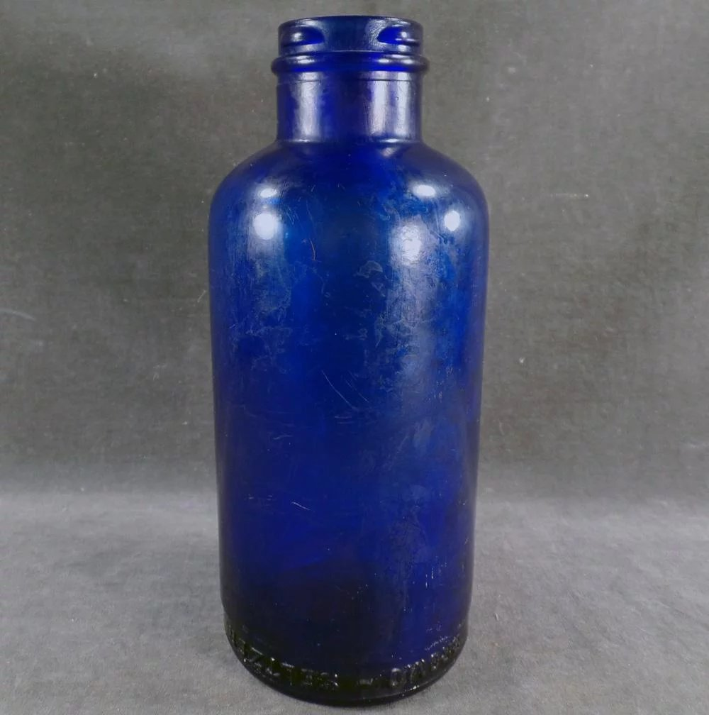 old bromo seltzer blue bottle