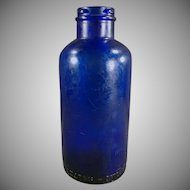 Vintage Bromo-Seltzer Bottle - Cobalt Blue Dispensing Bottle
