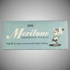 Vintage Steel Phonograph Needles for 78 Records - Meritone 25