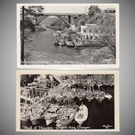 Two Vintage Souvenir Postcards - Photographs of Depoe Bay, Oregon
