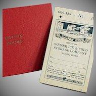 Vintage Ration Book for Ice plus a Ration Book Holder