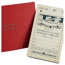 Vintage Ration Book for Ice plus a Ration Book Holder