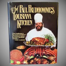 Vintage Recipe Book- Chef Paul Prudhomme's Louisiana Kitchen Cook Book