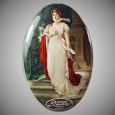Vintage Celluloid Mirror - Queen Quality Shoes Advertising - Curry Shoe Co.