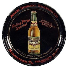 Vintage Advertising Tip Tray - Valley Forge Beer - Adam Scheidt Brewing Co.