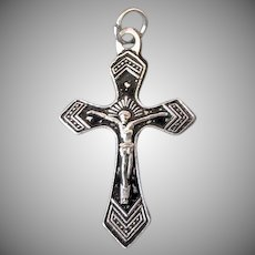 Vintage Crucifix Cross Pendant – Simple Detail