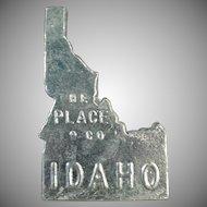 Vintage Idaho Souvenir - Kellogg Idaho Bunker Hill Zinc Sample