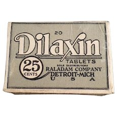 Vintage Medical Advertising - Dilaxin Laxative Tablets Box