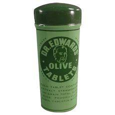 Vintage Dr. Edwards Olive Laxatives Tin