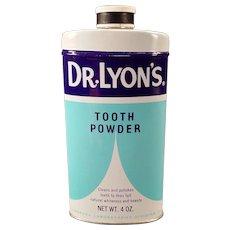 Vintage Dr. Lyon's Tooth Powder Tin – 1960's