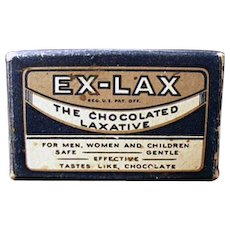 Vintage Ex-Lax Laxative Box - Sample Package