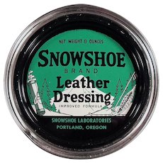 Vintage Snowshoe Leather Dressing Tin from Portland Oregon