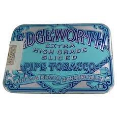 Vintage Edgeworth Sliced Pipe Tobacco Pocket Tin - Very Nice Condition