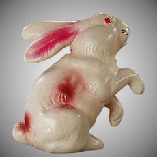 Vintage Easter Bunny - Celluloid Rabbit Rattle Toy
