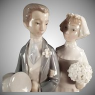 Vintage Lladro #4808 - Bride & Groom Wedding Figurine