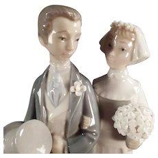 Vintage Lladro #4808 - Bride & Groom Wedding Figurine