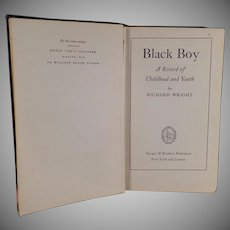 Vintage Hardbound Book - 1945 - Black Boy by Richard Wright