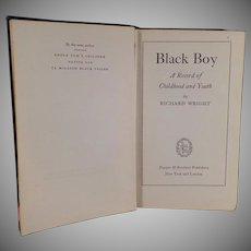 Vintage Hardbound Book - 1945 - Black Boy by Richard Wright