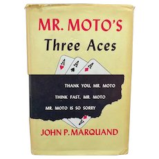 Vintage Mystery Novel - Mr. Moto's Three Aces - 1938 Hardbound Book