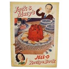 Vintage Jell-O Recipe Booklet - Jack Benny & Mary Livingstone - Comic Strip Format