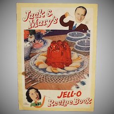 Vintage Jell-O Recipe Booklet - Jack Benny & Mary Livingstone - Comic Strip Format
