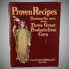 Vintage Advertising Recipe Booklet - Corn Products Refining Co. - Circa 1920