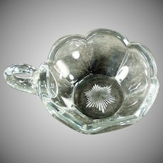 Vintage Handled Nappy - Krystol Glass Nut and Candy Dish