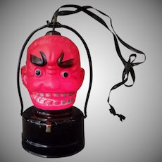Vintage Halloween Novelty B.O. Celluloid Devil Lantern