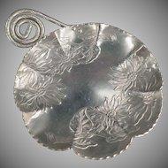 Vintage Farber & Shlevin Aluminum Serving Tray - Hammered Floral Design