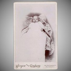 Vintage Photograph - 1800's Cabinet Card - Baby in Christening Gown