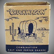 Vintage Advertising Salt and Pepper Set - Chuckwagon with Airstream Advertising
