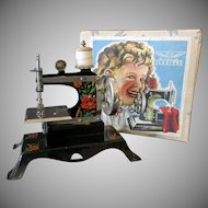 Vintage Casige Toy Sewing Machine with Original Box – British Zone Germany