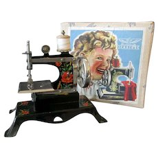 Vintage Casige Toy Sewing Machine with Original Box – British Zone Germany