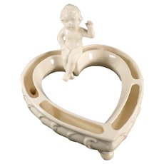 Vintage Flower or Posey Ring - Seated Cherub on Heart