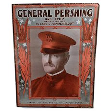 Vintage Sheet Music - 1918 General Pershing One Step