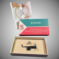 Vintage Singer 401 Darning & Embroidery Attachment – Part No. 161162 - ca 1958