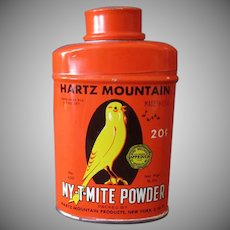 Vintage Hartz Mountain Tin - My-T-Mite for Birds - Colorful Graphics