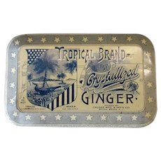 Vintage Tropical Brand Crystallized Ginger Candy Tin – Very Nice