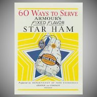 Vintage Advertising Recipe Booklet - Armour Ham