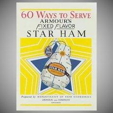 Vintage Advertising Recipe Booklet - Armour Ham