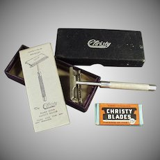 Vintage Safety Razor - Complimentary Christy Advertiser with Original Box