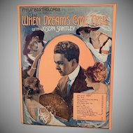 Vintage Sheet Music - 1913 When Dreams Come True - Who's the Little Girl