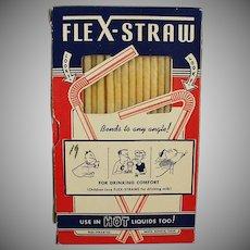 Box of Vintage Paper Flex-Straws  - 1950's