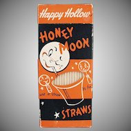 Box of Vintage Paper Straws - Honeymoon 100 - Fun Graphics