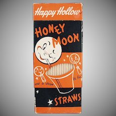 Box of Vintage Paper Straws - Honeymoon 100 - Fun Graphics